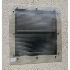 storm busters 48 in x 96 in clear polycarbonate hurricane shutters