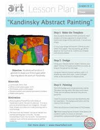 Elementary Art Lesson Plans Kandinsky Abstract Painting Free Lesson Plan Download The