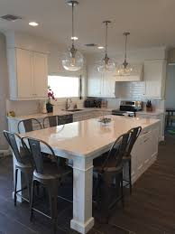 kitchen island table. White Shaker Waypoint Cabinets Designed By: Nathan Hoffman Wonder If We Could Do This? Kitchen Island Table O