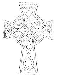 Coloring Pages Crosses Free Printable Cross And Celtic Betterfor