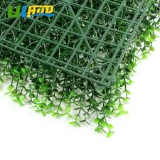 decorative artificial grass plants post with faux wall decor boxwood hedge light green panel inside