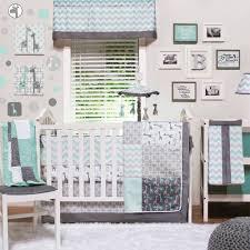 the peanut shell crib bedding set grey and aqua uptown giraffe 4 piece baby bedding collection com