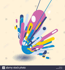 Elements Of Design And Composition Abstract Modern Style With Composition Made Of Various