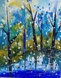 saatchi art artist irfan mirza painting fall impression landscape inspired by van gogh