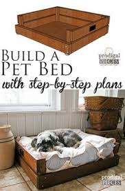 wood dog bed furniture. Build A Pet Bed With Step-By-Step Plans \u0026 Tutorial By Prodigal Pieces Wood Dog Furniture