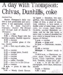 Hunter S Thompsons Daily Routine Was The Height Of Dissolution