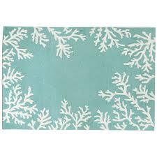 c border aqua indoor outdoor rug