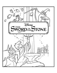 The Sword In The Stone Disney Coloring Pages Movie Covers