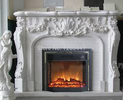 european fireplace set carved marble fireplace mantel with electric fireplace insert led optical artificial flame decoration in fireplaces from home