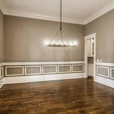 chair rail dining room. Perfect Dining Gray Dining Room With White Wainscoting On Chair Rail I