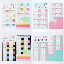 2 Sheet 2018 Monthly Calendar Tab Stickers Index Paper Planner Journal  Diary DIY
