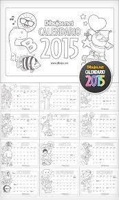 Ya Puedes Descargar El Calendario Infantil 2015 Para Colorear De