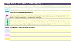 personal finance excel sample comprehensive personal financial plan created in excel based p