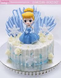 Bánh gato sinh nhật công chúa cô bé lọ lem Cinderella khi được các bà tiên  cho quần áo đẹp 5134 - Bánh sinh nhật, kỷ niệm