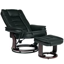 leather swivel recliner chair black chairs real armchair suppliers