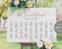 Gsr Seating Chart Lets Celebrate Seating Chart Alphabetical Wedding Etsy