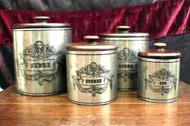 metal kitchen canisters s old