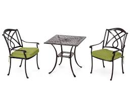 Great Square Bistro Table Set Valencia Cast Aluminum Patio