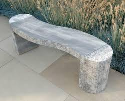 modern stone garden bench with soft s