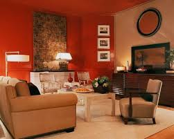Traditional Living Room with Red Walls. Red living room designs