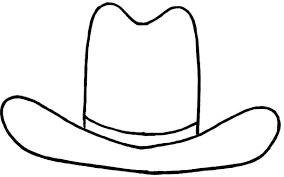 Small Picture Texas Cowboy Hat Coloring Page Coloring Pages Ideas