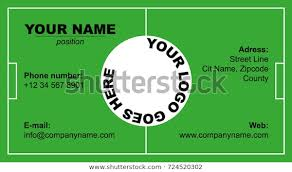 Soccer Business Card Soccer Field Business Card Royalty Free Stock Image