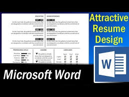 How To Create Resume In Word Amazing How To Make An Attractive Single Page Resume In MS Word Resume