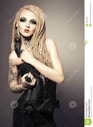 Femme Gothique Photo Stock Image Du Coiffure élégant