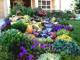 Colorful Modern Front Yard Landscape Garden With Various Flower