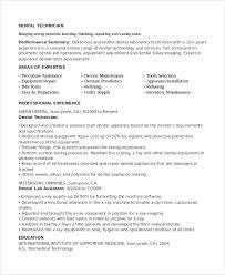 Dental Lab Technician Resumes 48 Pdf Dental Laboratory Technician Resume Example