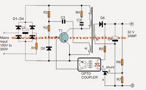 the article shows a 32v 3 amp smps circuit which be how to build a 3 amp led driver circuit making easy circuits