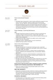 Instructional Designer Resume Classy Senior Instructional Designer Resume Samples VisualCV Resume
