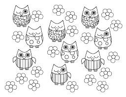 Owl Coloring Pages Cute Colouring For Toddlers Easy Frozen Girls
