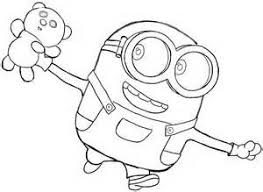Bob The Minion Coloring Pages Bing Images Crafts Minion