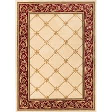 well woven timeless fleur de lis ivory 11 ft x 15 ft traditional area rug 3622t the home depot