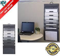 office hanging organizer. Wall File Organizer Office Folder Hanging Holder Letter Mount Storage 6 Pockets 4