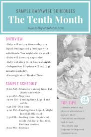 Babywise Sample Schedules The Tenth Month Babywise Mom