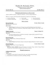 Mechanical Engineering Resume Templates Aeronautical Engineerume Examples Samples Mechanical Engineering 93
