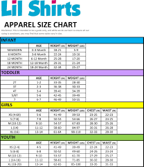 Foot Locker Size Chart Clothes Lil Shirts Big Brother 2018 Little Boys Youth And Toddler