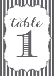 wedding table cards template 107 sets of free printable wedding table numbers