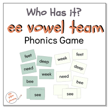 Simply click on a phonics sound from phase 2, phase 3, phase 4 or phase 5 and hear the correct pronunciation of the phonics sound said back to you! Who Has It Long E Sound Ee Phonics Game Pen And Paper Phonics