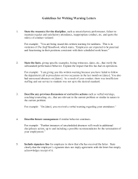 employee warning letter guidelines sle1
