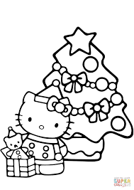 Coloring Pages Hello Kitty Christmas Coloringge Free Printableges