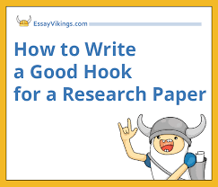 how to write a hook for a research