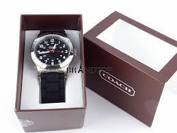 brandtop authentic product details out brand new coach rivington ss 42mm rubber men watch w5000