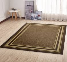 main rug runners with non skid backing ottomanson ottohome collection contemporary bordered design runner rubber x brown outdoor rugs for throw slip latex