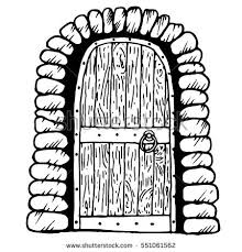 door clipart black and white. Best Of Door Clipart Black And White Old Wooden Stock Images Royalty Free Vectors I