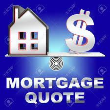 Mortgage Quotes Mortgage Quote House Means Real Estate 100d Rendering Stock Photo 79