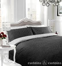 black white polka dot reversible duvet cover
