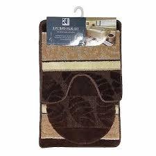 5 of 10 scroll 3 piece bathroom rug set bath rug contour rug lid cover